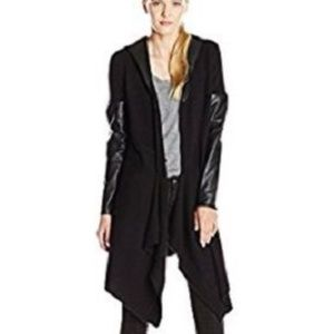 BLANK NYC Faux Leather Hooded Jacket-XS